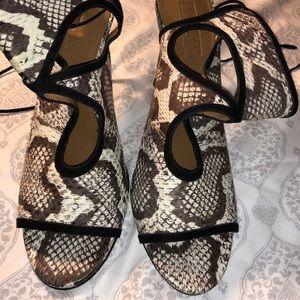 Aquazzura Snakeskin Sandals